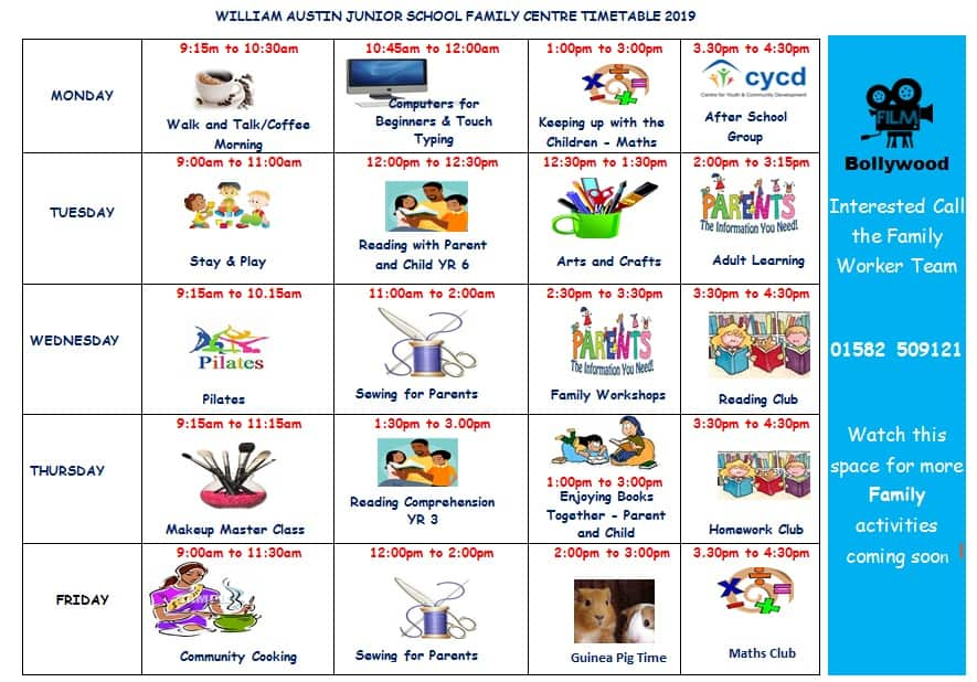 Family Centre timetable Spr 19